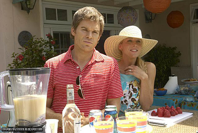Dexter and Rita Pool Party